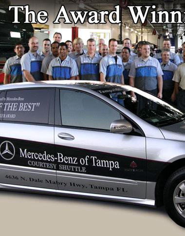 Mercedes benz of tampa rated best dealership for Mercedes benz dealer in tampa fl